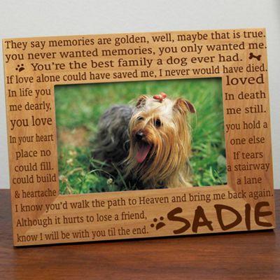 'Til the End Memorial Dog Frame