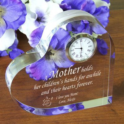 Mother's Keepsake Clock