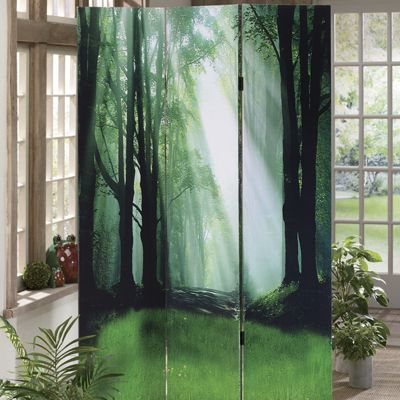 Forest 3-Panel Screen