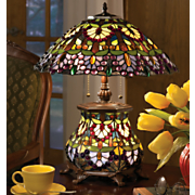 'Wisteria' Stained Glass Lamp