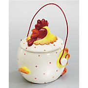 Rooster Covered Pot