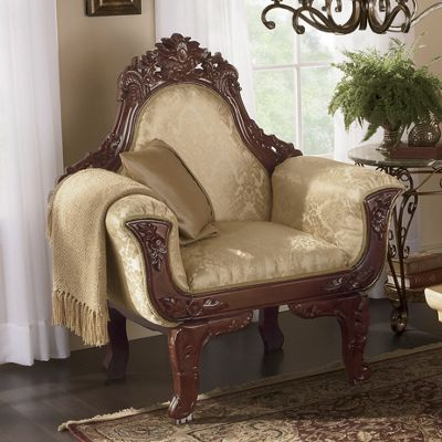 Carved Oversize Chair