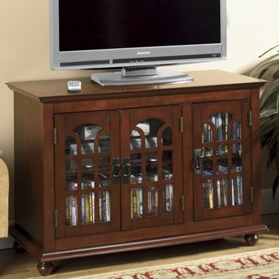 Arched 3-Door TV Stand