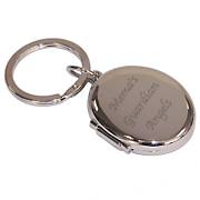 Oval Locket Keychain