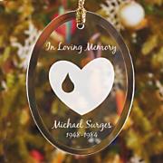 In Loving Memory Jade Glass Ornament