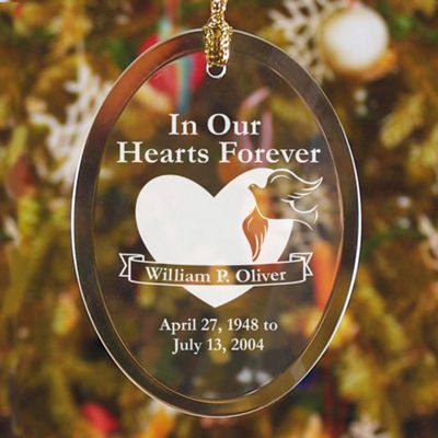 In Our Hearts Forever Jade Glass Ornament