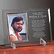In Loving Memory Beveled Glass Frame