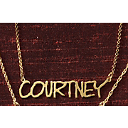 Necklace Name Fine Line