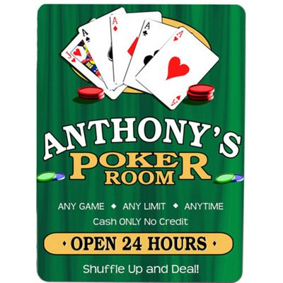 Poker Room Wall Sign