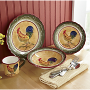 16 Piece Provence Rooster Dinnerware