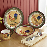 16-Piece Provence Rooster Dinnerware