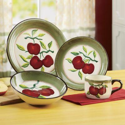 16-Piece Apple On Branch Dinnerware