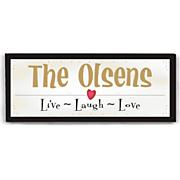 Live Laugh Love Wall Canvas
