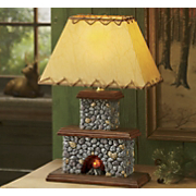 Lodge Fireplace Lamp