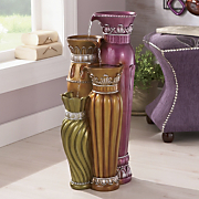 Purple Potters Art Fountain