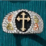 Black Hills Gold Cross Ring