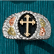 Black Hills Gold Cross Ring