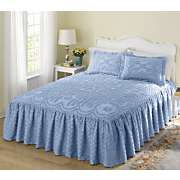 Lattice Ruffle Chenille Bedding