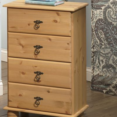 4-Drawer Pine Cabinet