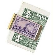 Brass Train Stamp Money Clip
