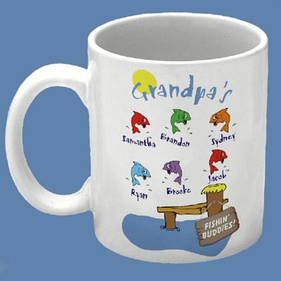 Grandpa's Fishing Buddies Mug