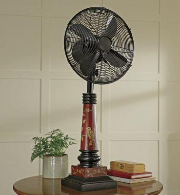 Bird Motif Table Fan