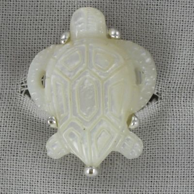 Mother-of-Pearl Turtle Ring