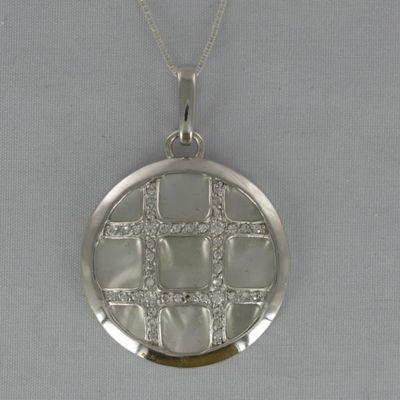 Mother-of-Pearl Crisscross Pendant