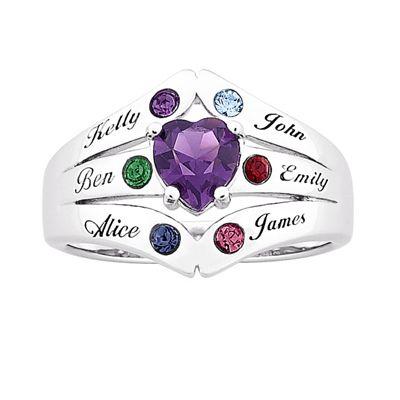 Mom & Family Birthstones Ring