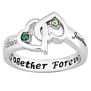 Ring Couples Birthstone Heart