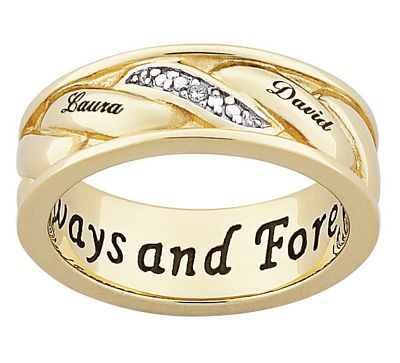 Men's Couple's Name Ring