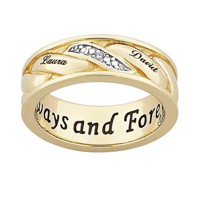 Men's Couple's Name Ring