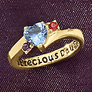 Ring Daughter Parent Birthstone
