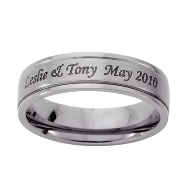 Personalized Men's Message Ring