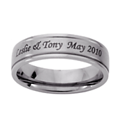 Ring Mens Personalized Message