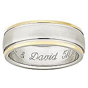 Ring Mens Personalized Titanium
