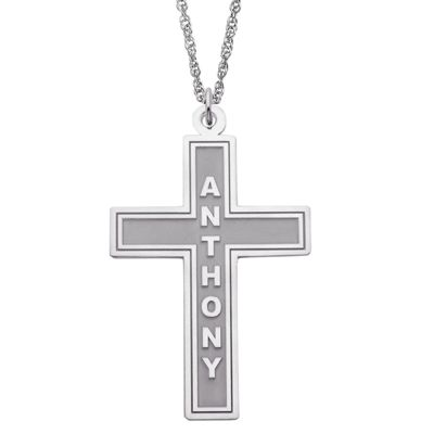 Name Cross Pendant
