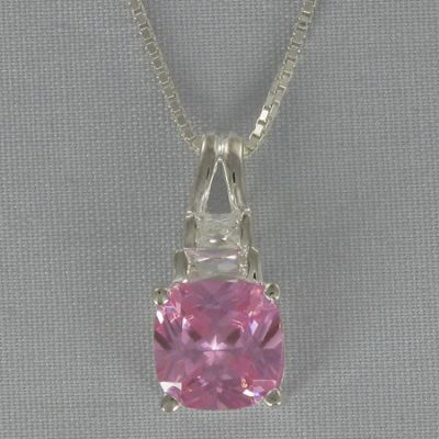 Pink Cubic Zirconia Pendant