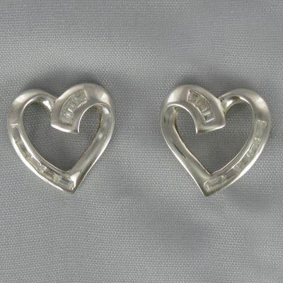 Cubic Zirconia Heart Earrings