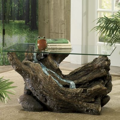 A Light In The Forest Fountain Coffee Table