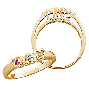 Family Birthstone I Love You Ring