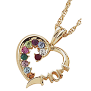 Pendant Family Birthstone Heart