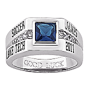 Class Ring Mens Cubic Zirconia