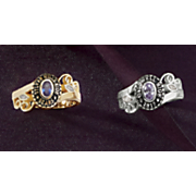 Class Ring Ladies Oval Birthstone