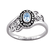 women s oval birthstone class ring
