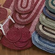 7 Piece Bristol Braided Rug Set