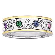Ring Family Birthstone Trinity Knot