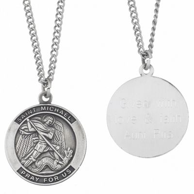 Personalized St. Michael Medal Pendant