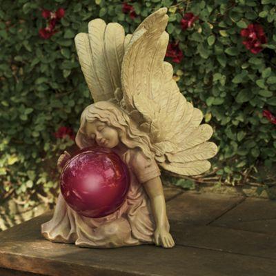 Angel with Solar Gazing Ball