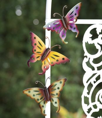3-piece Metal Butterfly Set